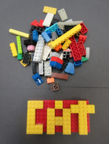 Spelling with Legos
